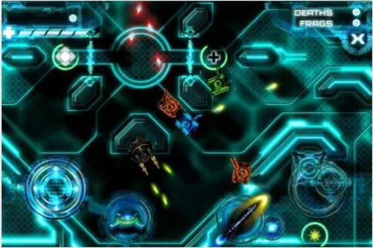 """The first official """"Tron"""" iPhone gameis superb and especially so if you like pretty neon tanks."""