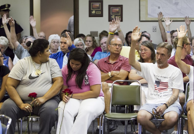 Image: A voter-approved ban on hiring and renting property to illegal immigrants was suspended Tuesday by the Fremont City Council