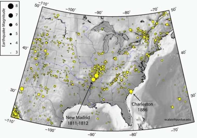 Image: Seismic activity map