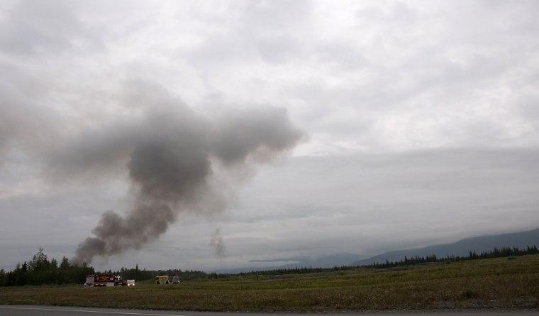 Image: Plane crash at Elmendorf Air Force base