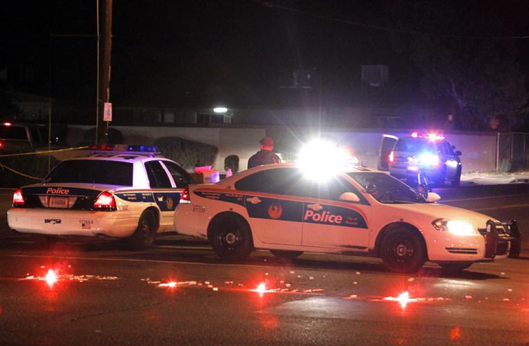 Image: Scene of police shooting in Pheoniz