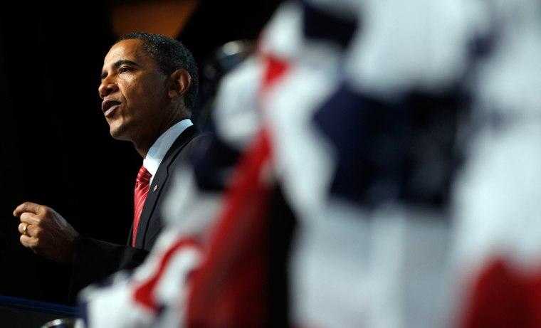 Image: Barack Obama speaks to disabled american veterans