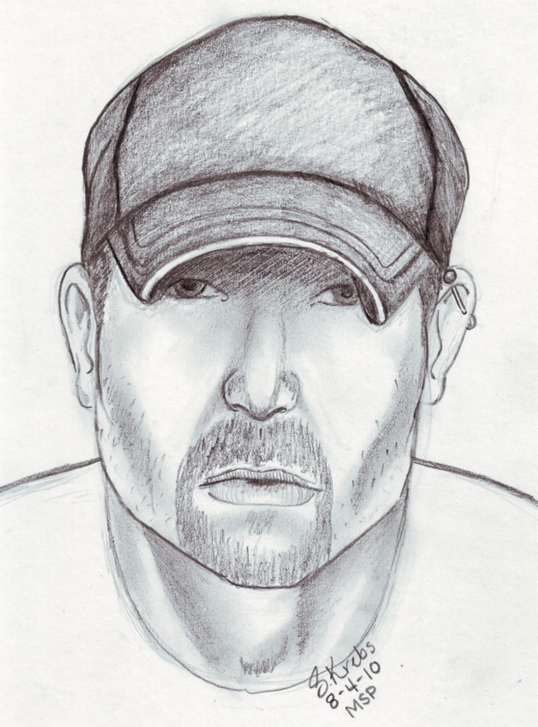 Police sketch of the serial slasher blamed for five deaths in Flint, Mich.