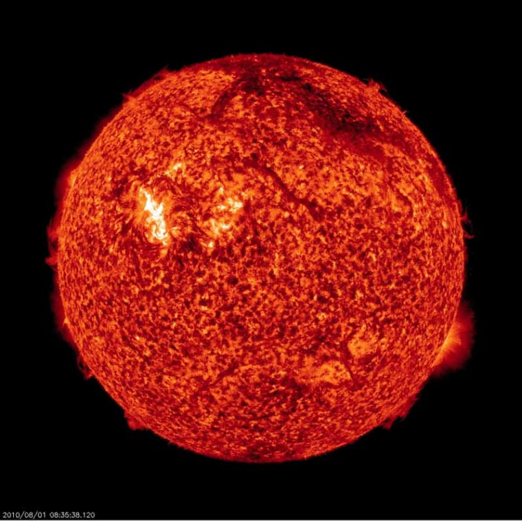 Image: X-ray photo of the sun Aug. 1, 2010