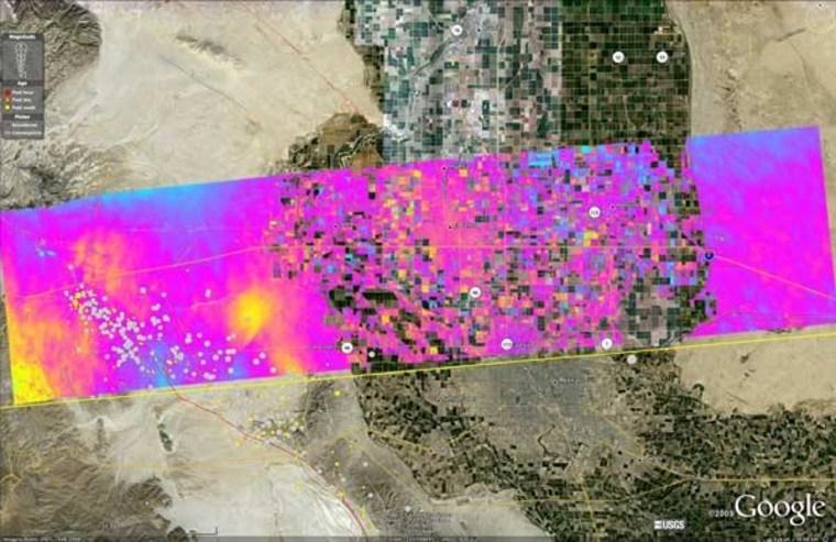 Image: NASA radar images of Southern California near Mexican border