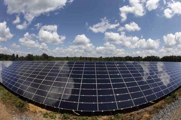 Image: Solar panels at Pocono Raceway