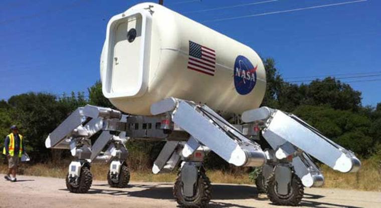 Image: NASA's next-generation Mars rover, Curiosity.