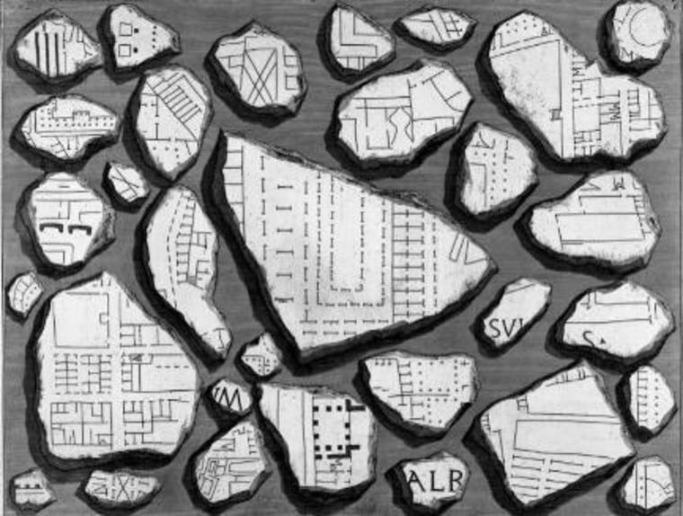 Image: Roman map fragments