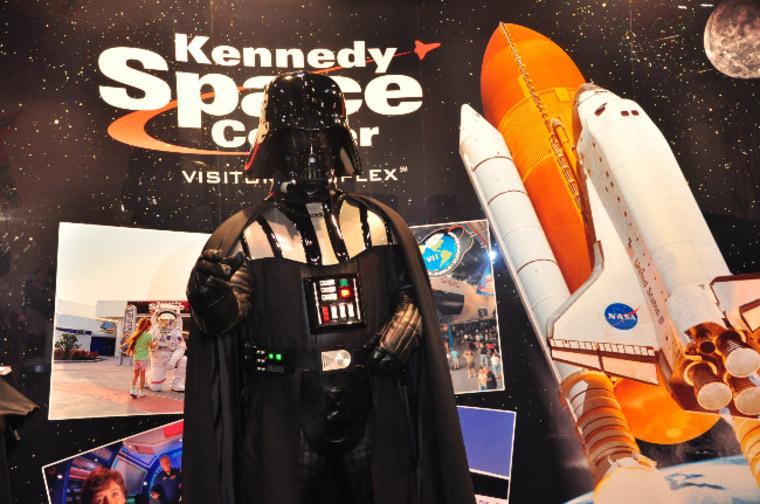 "Inage: Darth Vader at \""Star Wars\"" Celebration V in Orlando, Fla."