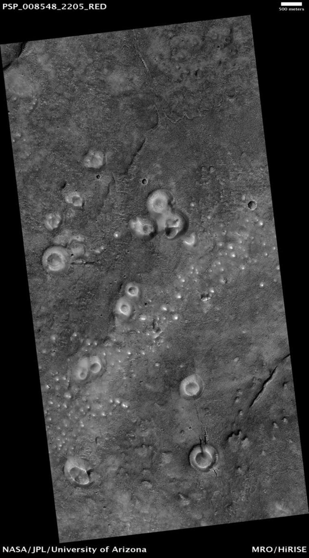 Image: Mud volcanoes on Mars