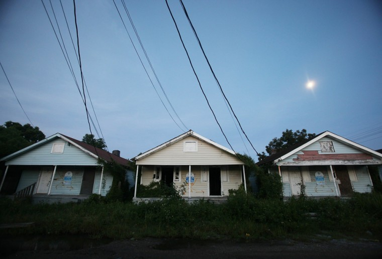 Image:  Abandoned homes are seen in the Lower Ninth Ward