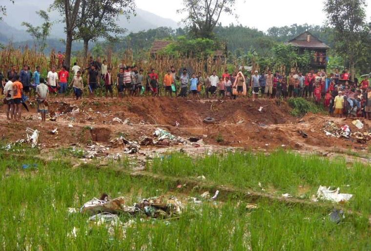 Image: Agni Air crash site in Kathmandu, Nepal