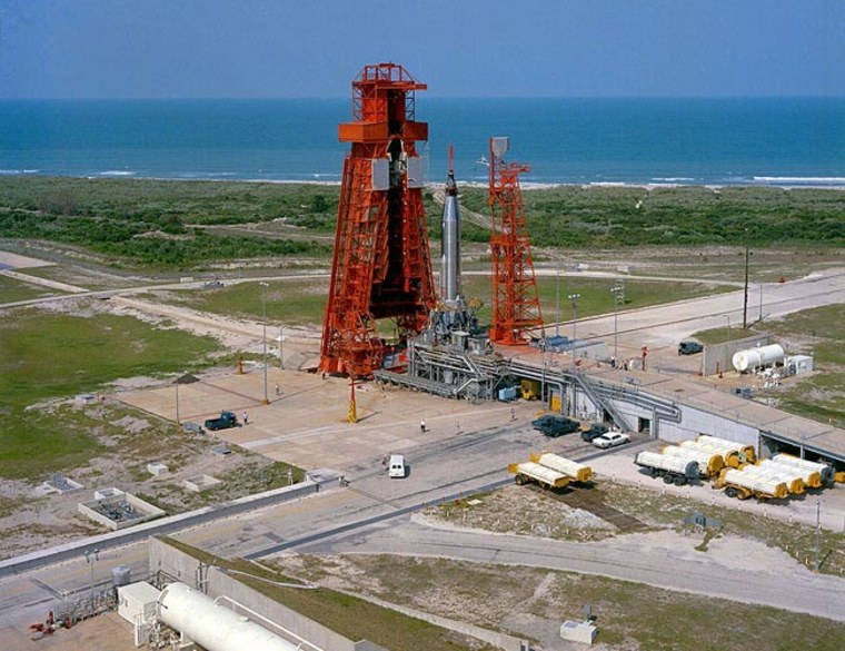 Image: Launch Complex 14 at Cape Canaveral in 1963