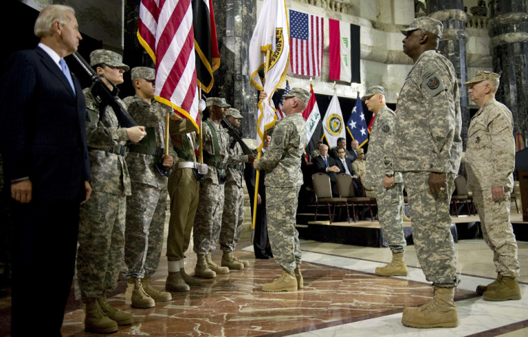 Image: Change of command ceremony in Baghdad