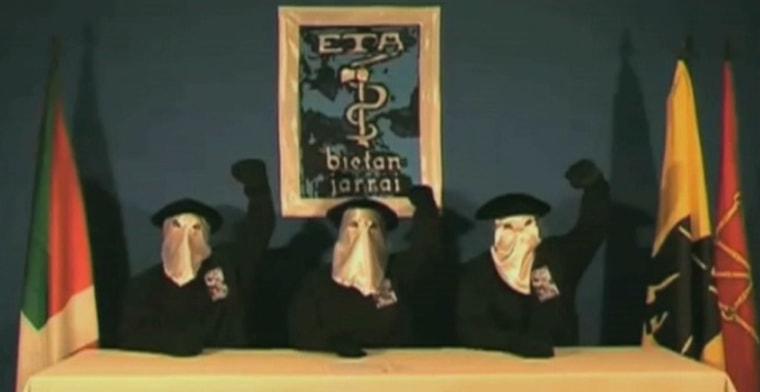 Image: Masked ETA members in cease fire video