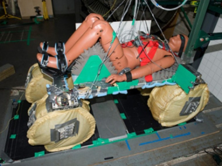 Image: Prototype air-bag system for space