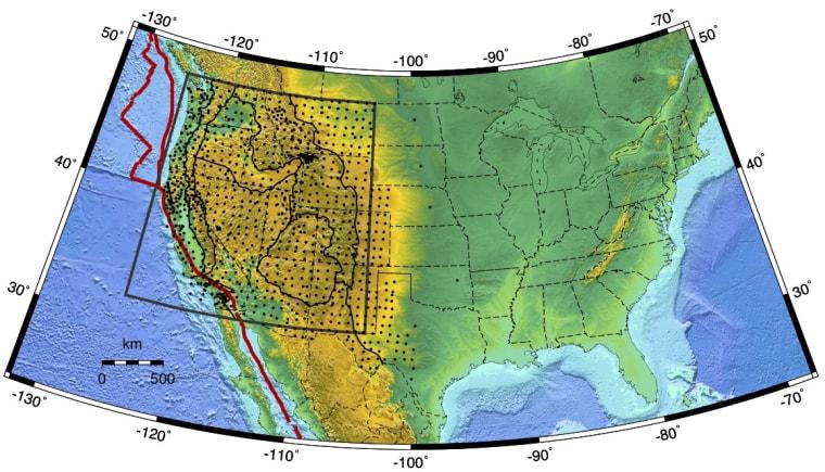 Image: Tomographic image of Yellowstone Snake River Plain