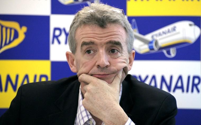Irish budget airline Ryanair CEO Michael