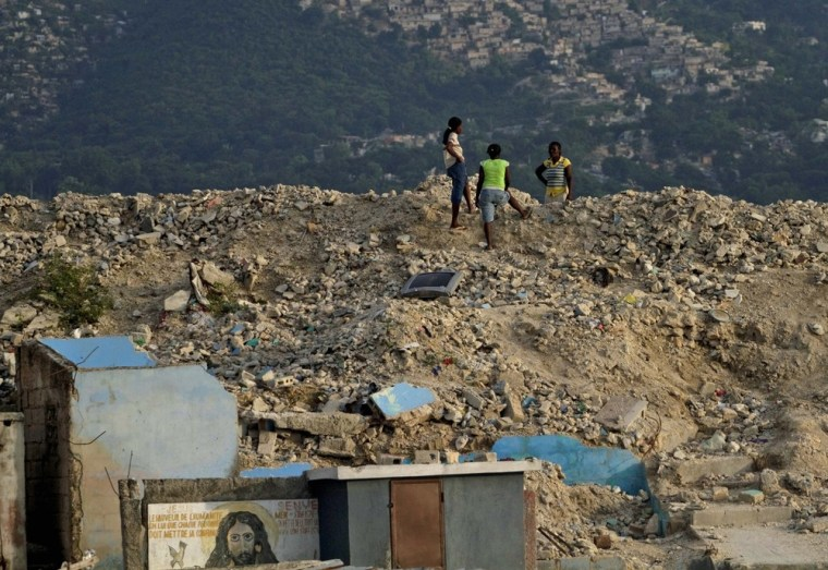 Image: Earthquake rubble in Haiti