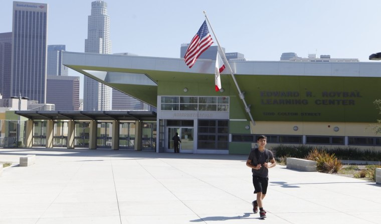 Image: Edward R. Roybal Learning Center is seen in Los Angeles