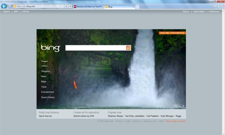 Image: Internet Explorer 9 Beta screenshot