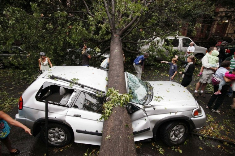 Image: Storm damage in New York