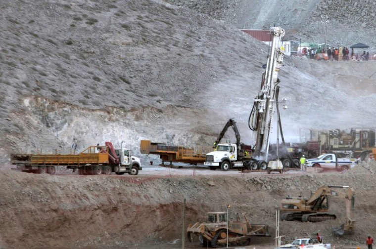 Image: Schramm T130 drill is prepared for operation at Copiapo