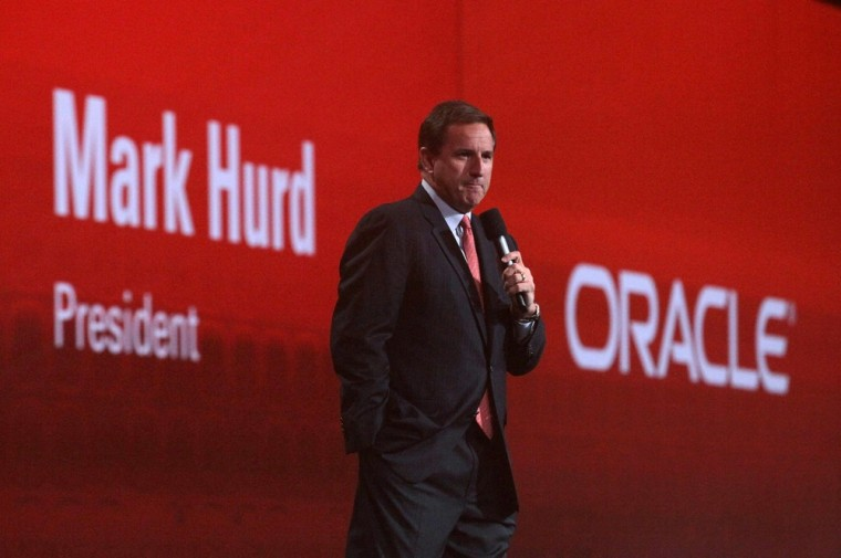 Image: Hurd at Oracle conference