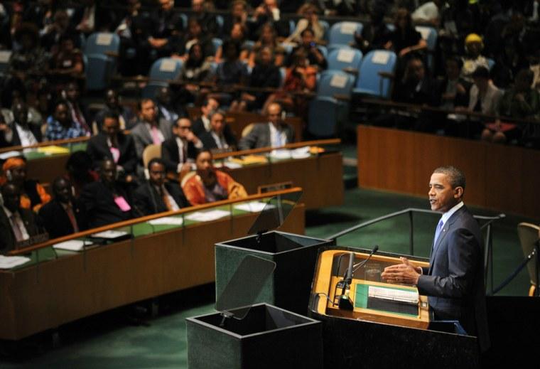 Image: US President Barack Obama speaks to the