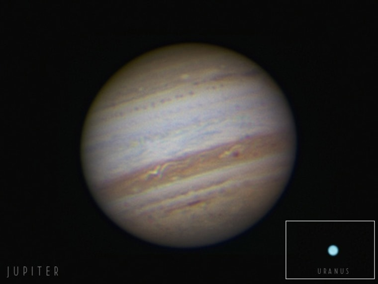 Image: Jupiter and Uranus