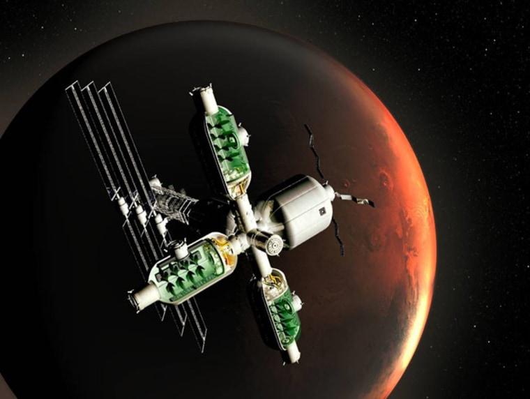 Image: Bioreactors orbiting Mars