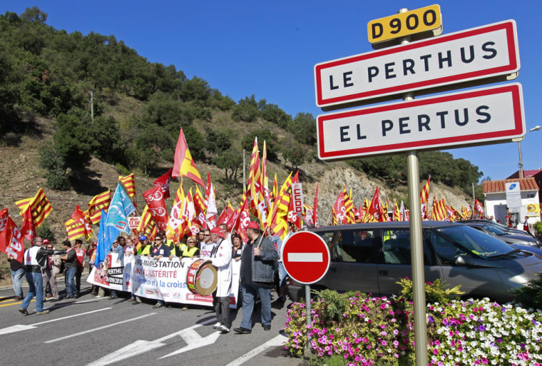 Image: European demonstration in Le Perthus