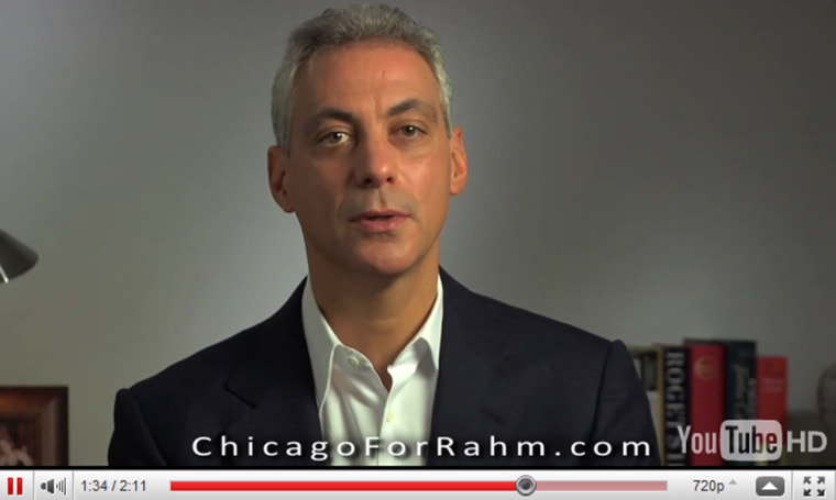In a campaign video posted on his newly minted website, former White House Chief of Staff Rahm Emanuel said he will visit Chicago neighborhoods over the next few weeks to hear from Chicago voters in the buildup to his campaign to be mayor of the city.