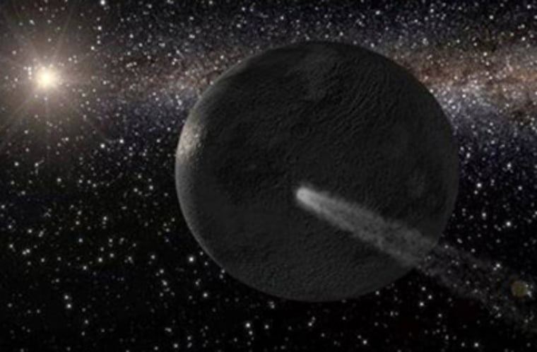 Image: An artist's illustration of water ice on the asteroid 65 Cybele