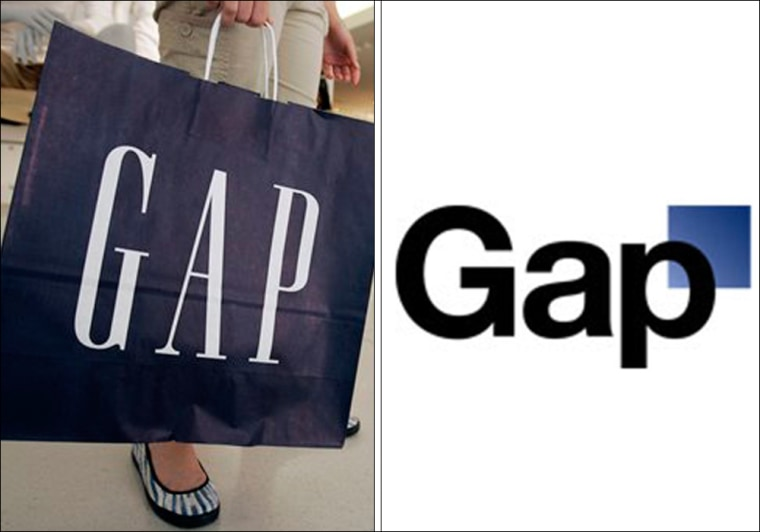 Gap Inc. said it would go back to its classic logo, left, after an outpouring of opposition to the updated version.