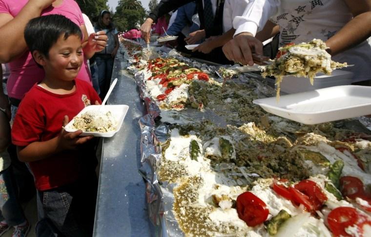 Image: World's largest enchilada
