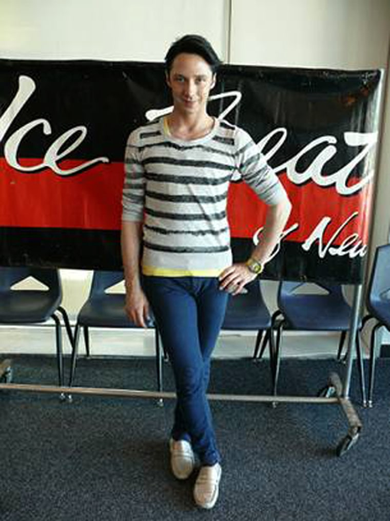 Johnny Weir performed at the opening night of Ice Theatre of New York's home season at Chelsea Piers in New York City on April 29.