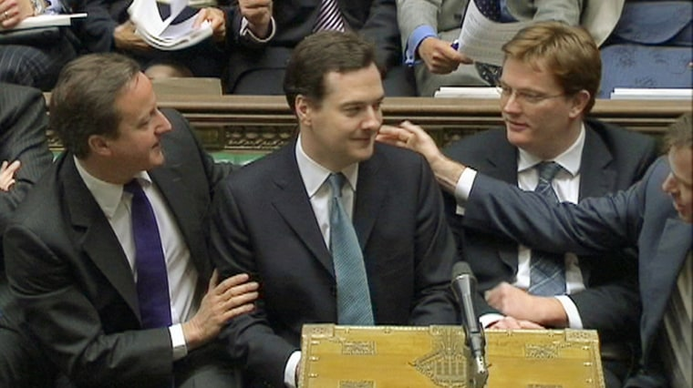 Image: Britain's Finance Minister George Osborne announces the UK government's spending plans at parliament in London