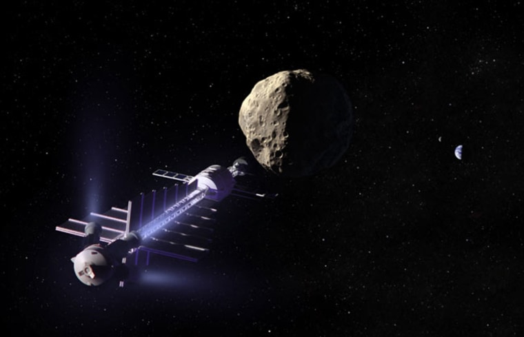 Image: Concept spacecraft for towing asteroids