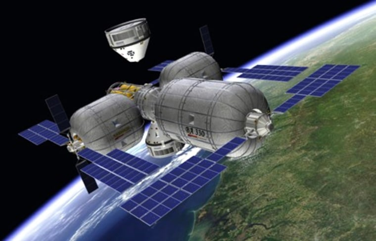 Image: Boeing docking with Bigelow station