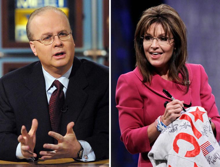 Image: Karl Rove and Sarah Palin
