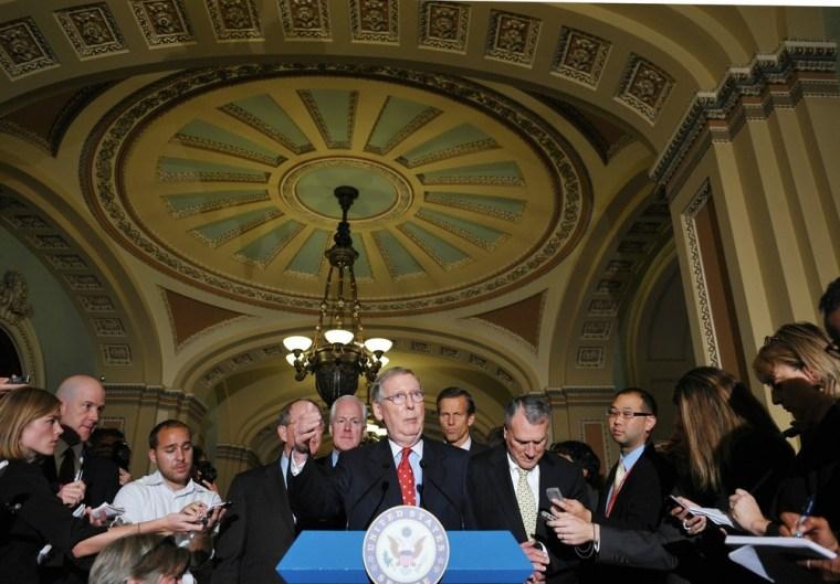 Image: Senate Minority Leader Mitch McConnell ,
