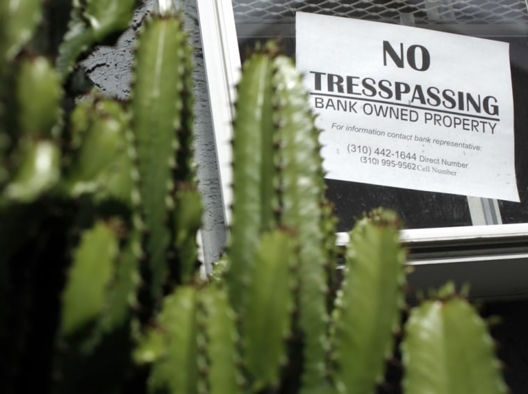 Image: A foreclosed home is seen in Los Angeles