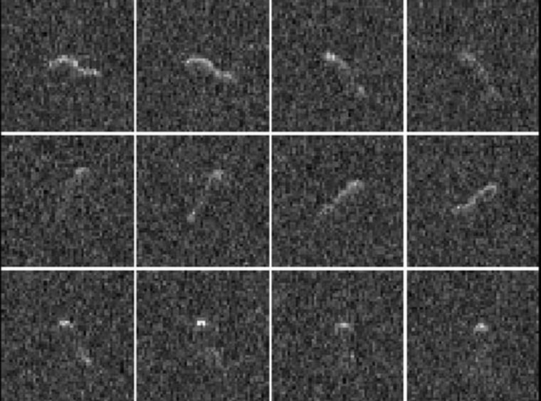 Image: 12 radar images of the nucleus of Comet Hartley 2