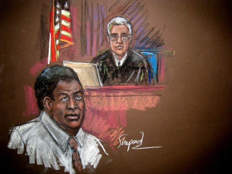 Image: courtroom drawing of Tanzanian Ahmed Ghailani