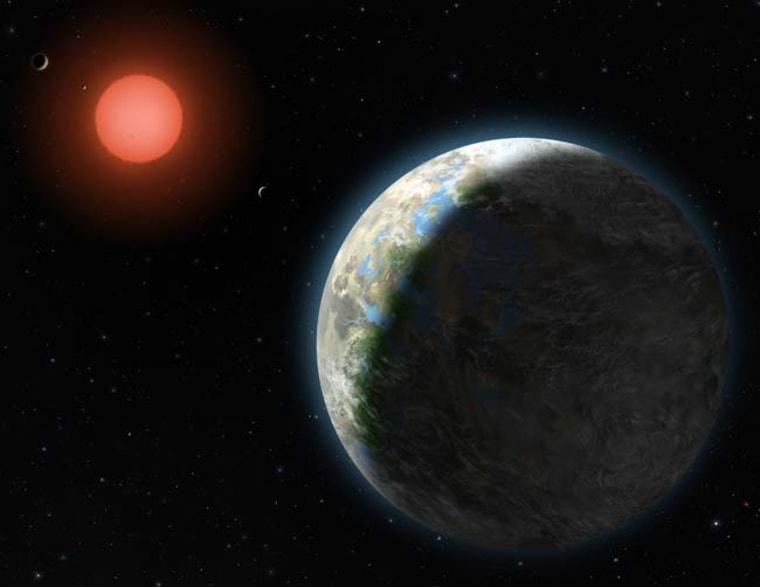 Image: Artist's conception, Gliese 581 system