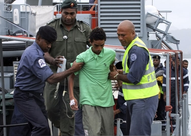 Image: Rescued teen in Suva, Fiji