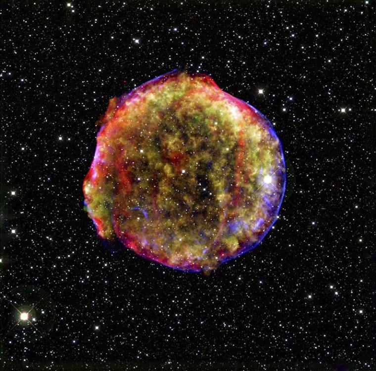 Image: Composite image of Tycho supernova remnant