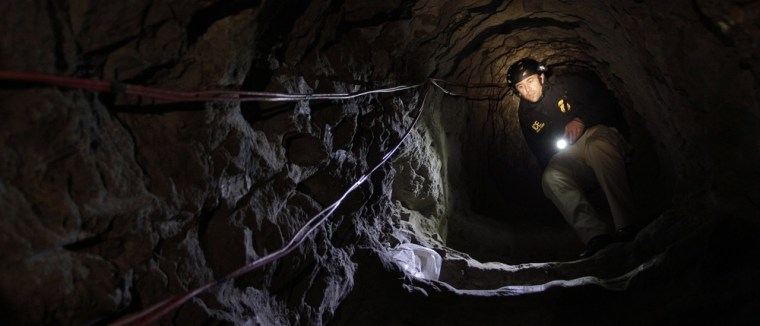 Image: ICE agent in a tunnel