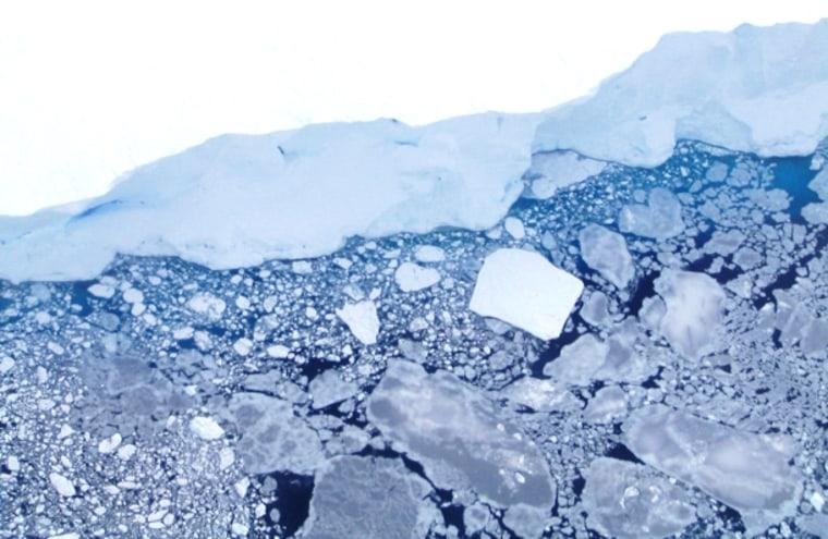 Image: Sea ice off Antarctica
